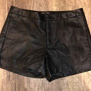 Banana Republic Perforated Leather Shorts